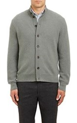 Luciano Barbera Button Front Cardigan Green