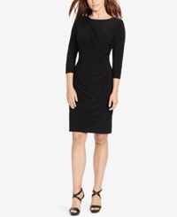 American Living Francisco Draped Sheath Dress Black