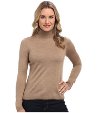 Pendleton Classic Turtleneck Sweater Camel Women's Long Sleeve Pullover Tan