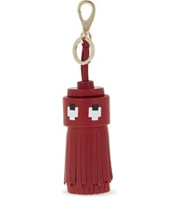 Anya Hindmarch Ghost Tassel Leather Bag Charm Red Circus