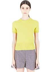 Marni Thick Herringbone Knitted Top Yellow
