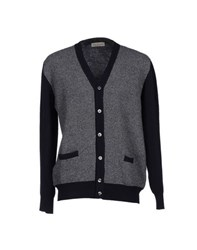 Della Ciana Knitwear Cardigans Men Dark Blue