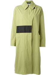 Aalto Contrasting Detail Raincoat Green