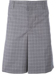 Golden Goose Deluxe Brand Prince Of Wales Check Shorts Grey