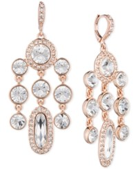 Givenchy Rose Gold Tone Crystal Chandelier Earrings