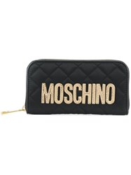 Moschino Quilted Fabric Wallet Black