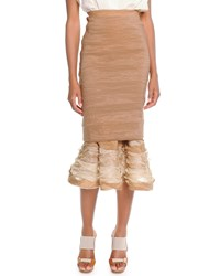 Donna Karan Slim Skirt With Ruffle Hem Women's Paper Bag