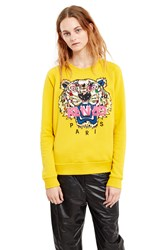 Kenzo Icons Floral Tiger Embroidered Sweatshirt Mustard