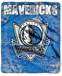Northwest Company Dallas Mavericks Raschel Shadow Blanket Blue