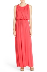 Women's Felicity And Coco 'Grecian' Jersey Maxi Dress Coral Red