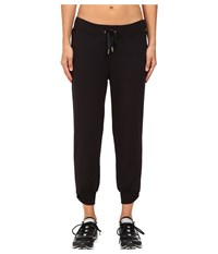 Kate Spade New York X Beyond Yoga Cozy Cropped Bow Sweatpants Black Women's Casual Pants