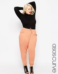 Asos Curve Washed Casual Harem Sweatpants Nude