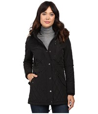 Lauren Ralph Lauren Faux Fur Trim Anorak Black Women's Coat
