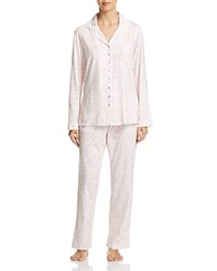 Eileen West Long Pajama Set Ballet Pink Ground Scroll