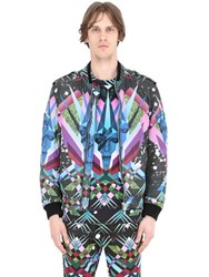 John Richmond Printed Nylon Bomber Jacket