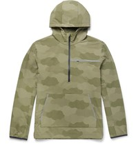 A.P.C. Outdoor Voices Camouflage Print Ripstop Hooded Jacket Green