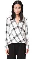 Splendid Eastridge Plaid Shirt White