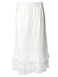 Dosa Long Ruffle Skirt White