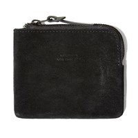 Saturdays Surf Nyc Saturdays Cash Half Zip Suede Wallet Black