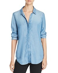 Beachlunchlounge Lena Button Back Chambray Shirt 100 Bloomingdale's Exclusive Medium Blue