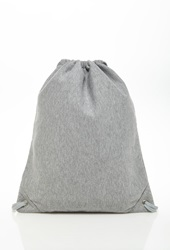 Forever 21 Heathered Knit Drawstring Backpack Heather Grey