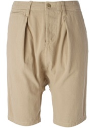 Nlst Drop Crotch Shorts Nude And Neutrals