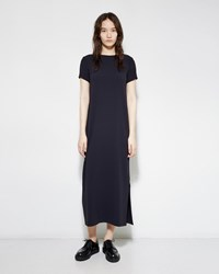 M. Martin Crepe Satin Dress Navy