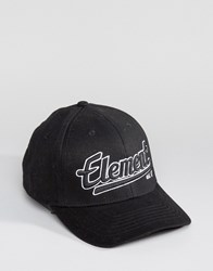 Element Script Baseball Cap Black