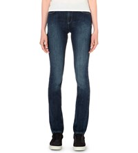 Armani Jeans Faded Straight High Rise Denim Indaco