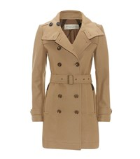 Burberry Brit Wool Trench Coat Female Camel