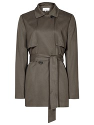 Reiss Relaxed Belted Mac Jacket Pine