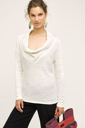 Anthropologie Dipped Cowl Tee White