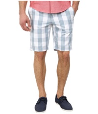 Original Penguin Plaid Cotton Poplin Slim Fit Shorts Faded Denim Men's Shorts Blue