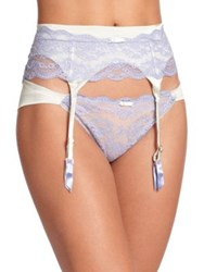 Myla Isabella Lace Trimmed Garter Belt Light Green