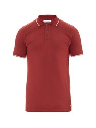 Tomas Maier Short Sleeved Cotton Pique Polo Shirt