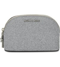 Michael Michael Kors Glitter Cosmetic Pouch Silver