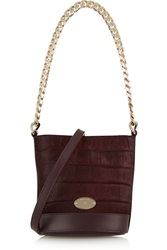 Mulberry Jamie Mini Croc Effect Calf Hair And Leather Bucket Bag