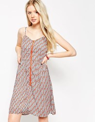 Jasmine Sun Dress With Zip Front Red