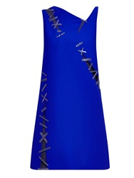 Versace Cut Out Embellished Crepe Dress