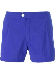 Dondup Button Fastening Swim Shorts Blue