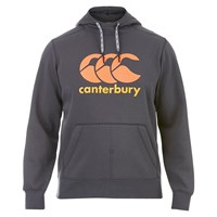 Canterbury Of New Zealand Classic Core Logo Hoodie Grey Orange