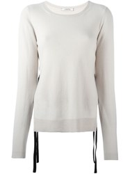 Dorothee Schumacher Side Slit Sweater Nude And Neutrals
