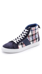 Msgm Check High Top Sneakers