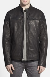 Rogue 'Mustang' Black Leather Racing Jacket