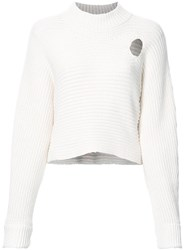 Alexander Wang Mock Neck Cropped Jumper White