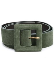 Orciani Large Buckle Belt Green