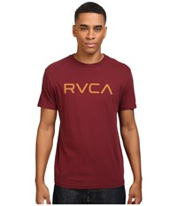 Rvca Big Vintage Wash Tee Tawny Port Men's T Shirt Red