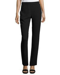 Catherine Malandrino Button Front High Waist Pants Black