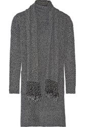 Thakoon Addition Knitted Cardigan Dark Gray