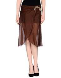 Borbonese 3 4 Length Skirts Dark Brown